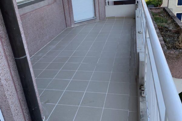 Réfection de l'étanchéité d'un balcon et du carrelage